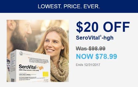 $20 Off SeroVital-hgh