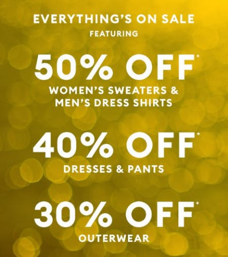 Up to 50% Off Everything from Banana Republic