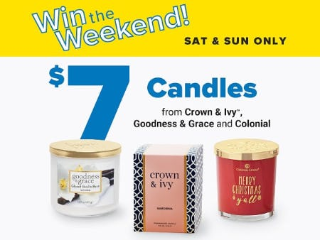 $7 Candles from Belk