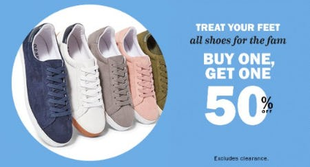 Buy One, Get One 50% Off All Shoes for the Fam from Old Navy