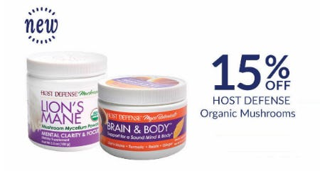 15% Off Hot Defense Organic Mushrooms from The Vitamin Shoppe