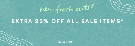 Extra 25% Off All Sale Items from Anthropologie