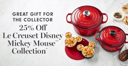 25% Off Le Creuset Disney Mickey Mouse Collection from Williams-Sonoma