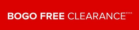BOGO Free Clearance