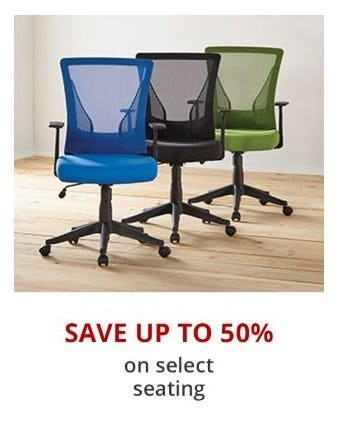 Up to 50% Off Select Seating from Office Depot
