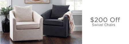 $200 Off Swivel Chairs from Kirkland's