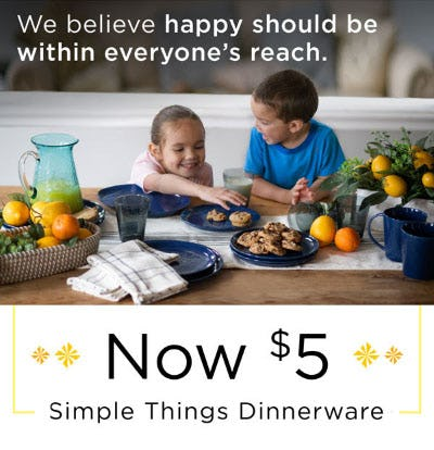 $5 Simple Things Dinnerware from Kirkland's