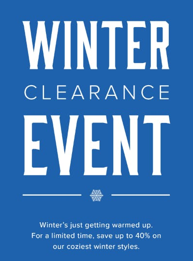 Winter Clearance Event: Up to 40% Off from UNTUCKit