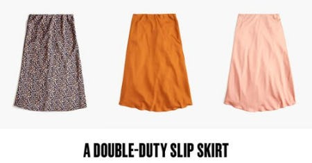 A Double-Duty Slip Skirt from J.Crew