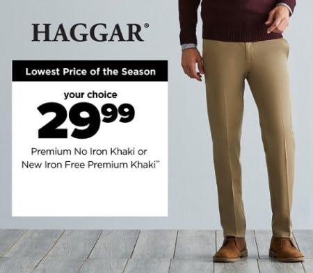 $29.99 Premium No Iron Khaki or New Iron Free Premium Khaki from Belk