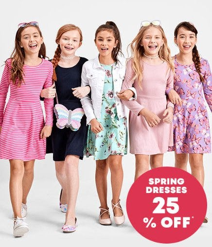 Spring Dresses 25% Off from The Children's Place