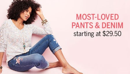 Most-Loved Pants & Denim Starting at $29.50 from Dress Barn, Misses And Woman