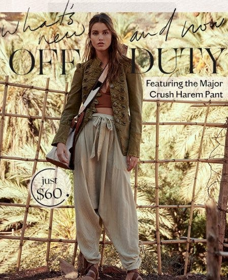 Meet the Major Crush Harem Pant from Free People