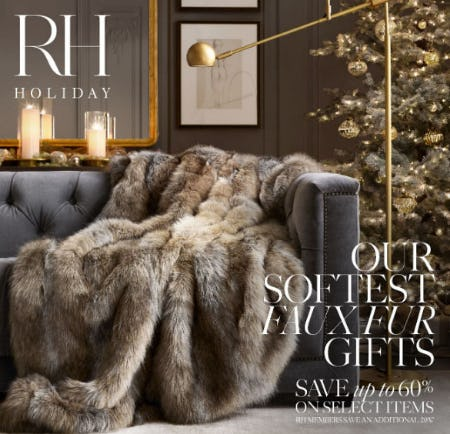 Up to 60% Off Our Softest Faux Fur Gifts from Restoration Hardware