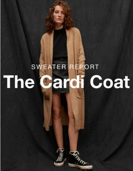 Coat Meets Cardigan from Gap