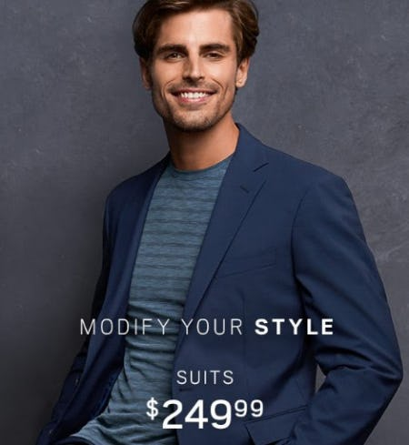 Suits $249.99 from Men's Wearhouse