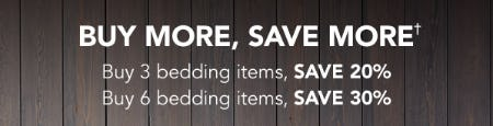 Buy More, Save More Up to 30% on Bedding Items from Sleep Number