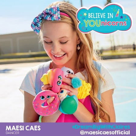 Believe in YOUnicorns with Claire's from Claire's