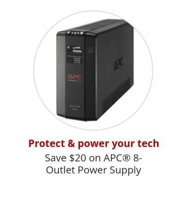 $20 Off APC 8-Outlet Power Supply from Office Depot