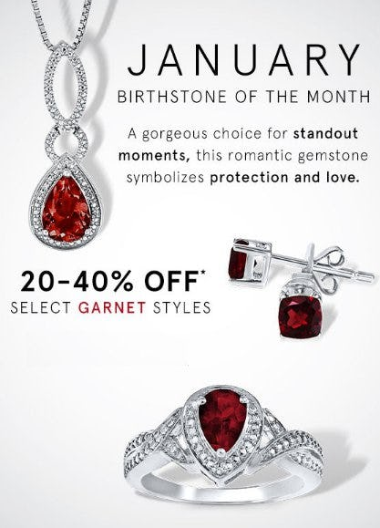 20-40% Off Select Garnet Styles from Kay Jewelers