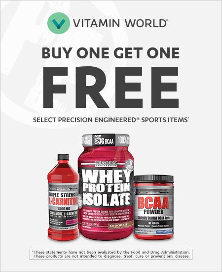 Buy One Get One Free Mix and Match Select Precision Engineered Sports Items‡ from Vitamin World