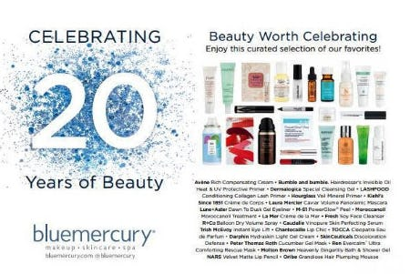BLUEMERCURY'S 20TH ANNIVERSARY IS HERE! from Bluemercury