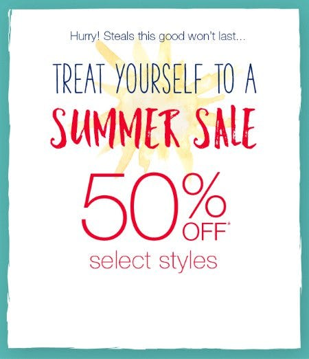 Summer Sale 50% Off from maurices
