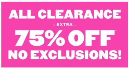 Extra 75% Off All Clearance from The Children's Place