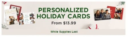 Personalized Holiday Cards from $13.99 from Costco