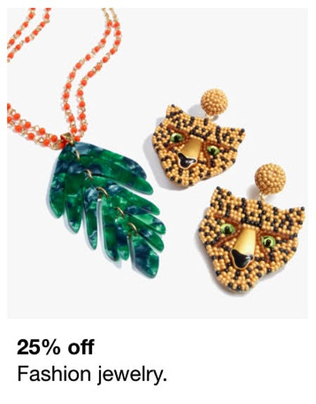 25% Off Fashion Jewelry from macy's
