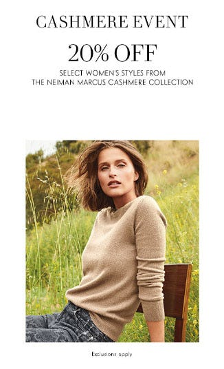 20% Off Cashmere from Neiman Marcus