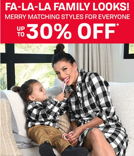 Merry Matching Styles for Everyone Up to 30% Off from The Children's Place
