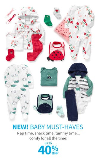 Up to 40% Off Baby Must-Haves from Carter's