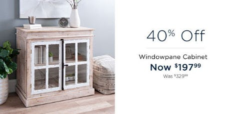 40% Off Windowpane Cabinet from Kirkland's