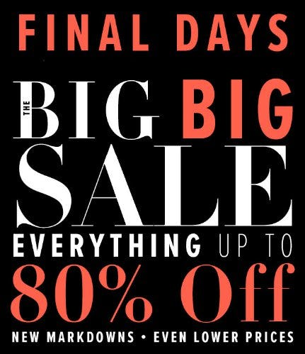 Everything up to 80% Off from New York & Company