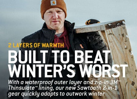 New Sawtooth 2-in-1 Gear from Carhartt