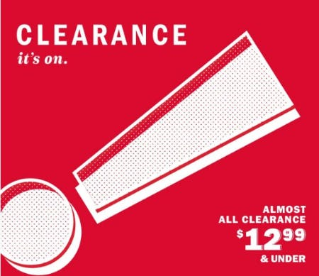 Almost All Clearance $12.99 & Under from Old Navy
