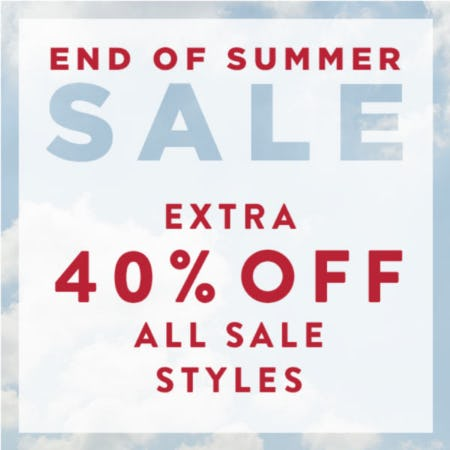 Extra 40% off All Sale Styles*