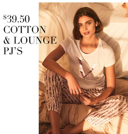 $39.50 Cotton and Lounge PJ's from Victoria's Secret