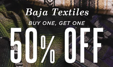BOGO 50% Off Baja Textiles from Diesel