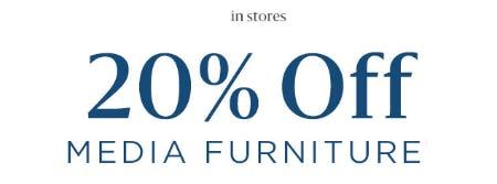 20% Off Media Furniture from West Elm