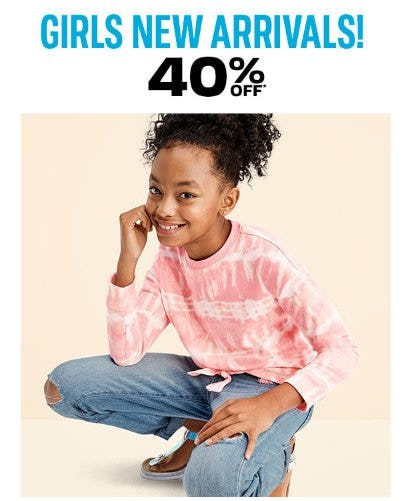 Girls New Arrivals 40% Off from The Children's Place