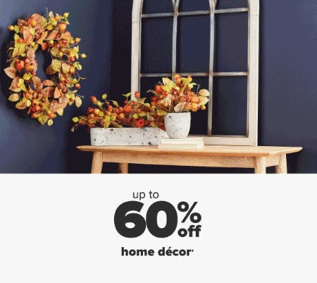 Up to 60% Off Home Decor