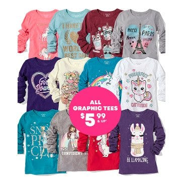 All Graphic Tees $5.99 from The Children's Place