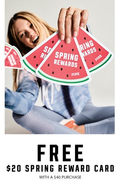 Free $20 Spring Reward Card from Victoria's Secret
