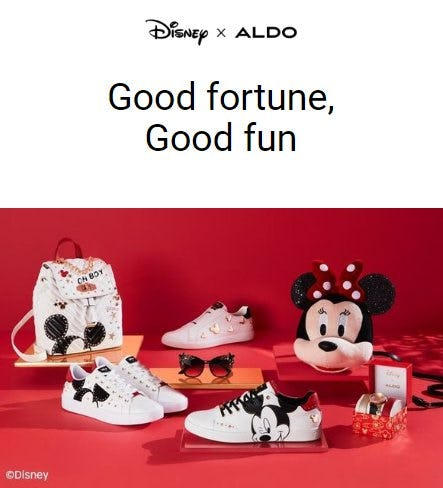 Just Dropped: Disney X ALDO Lunar New Year Collection from ALDO