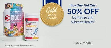 BOGO 50% Off Dymatize and Vibrant Health