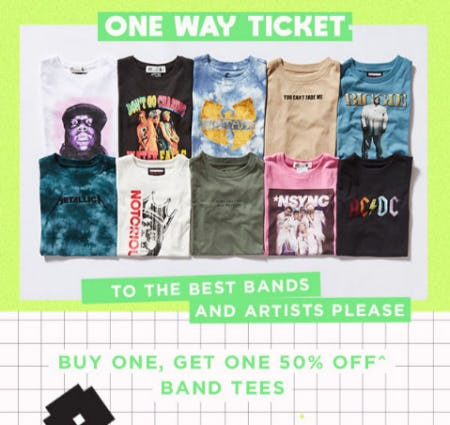 BOGO 50% Off Band Tees from Cotton On Kids
