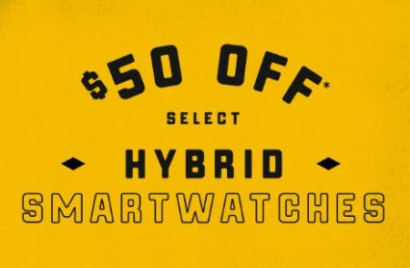 $50 Off Select Hybrid Smartwatches from Fossil