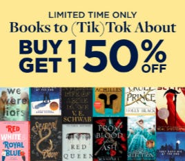 Buy 1, Get 1 50% Off on Books to (Tik)Tok About from Books-A-Million